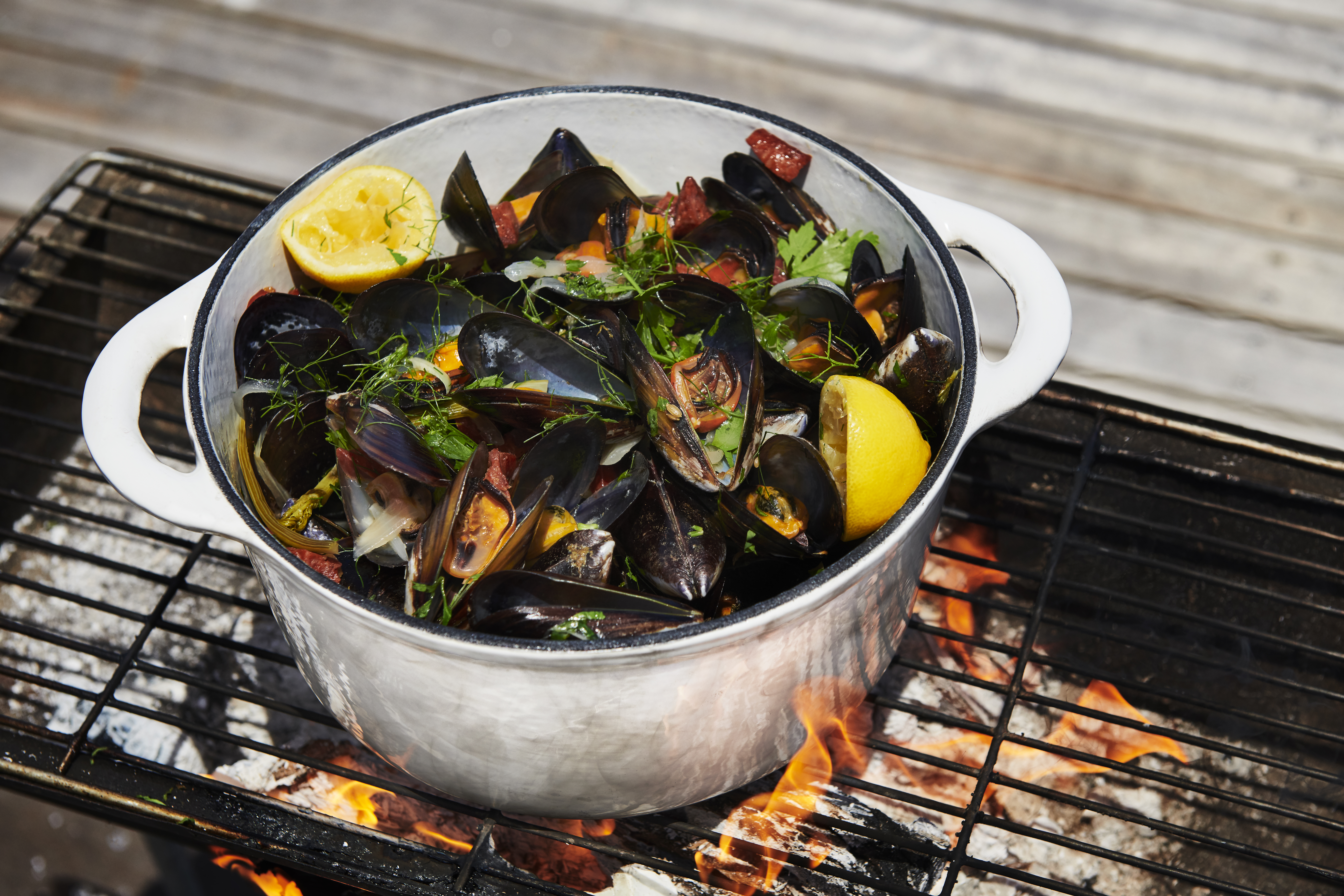 FENNEL AND CHORIZO MUSSELS