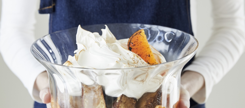 MALVA, CINNAMON AND NAARTJIE TRIFLE