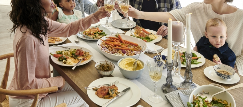Setting the table for a family feast
